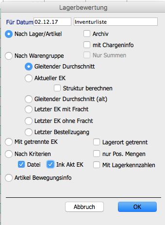 OfficeNo1 Inventurliste erstellen