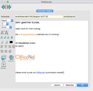 OfficeNo1 Email-Signatur einrichten
